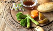 70117736(温野菜の料理)とその連想画像