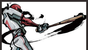 14003616(バットを振る野球選手)