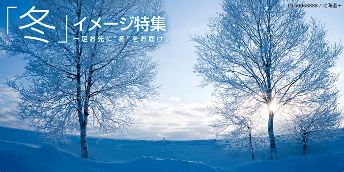 """冬イメージ特集-一足お先に""""冬""""をお届け"""