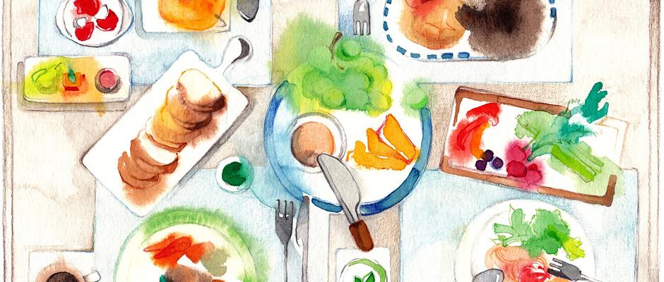 絵だからこそ伝えられるおいしさ料理のイラスト 写真素材のimagenavi