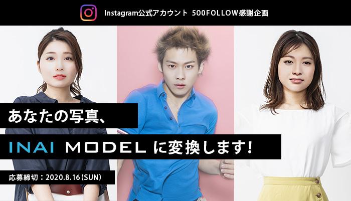 あなたの写真、≪INAI MODEL≫に変換します!