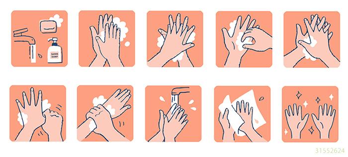 しっかり手を洗って新型コロナウイルス感染防止!